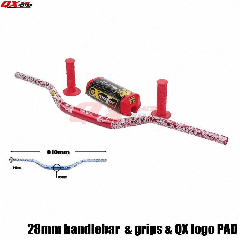 """CRF RMZ KXF YZ85 YZ125 YZ250 YZ250F YZ450F WR250F QKC5 # için tutunma ve ped ile Motosiklet alüminyum 1 1/8"""" 28mm Gidon Kulp Tüpler"""