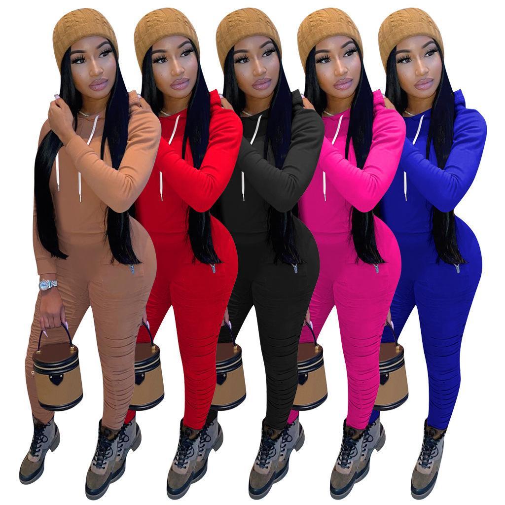 Las mujeres de dos piezas de ropa deportiva sudaderas Top + Pants las mujeres s de la ropa para mujer 2 piezas 2 piezas de ropa para mujer chándales Ropa de mujer 1