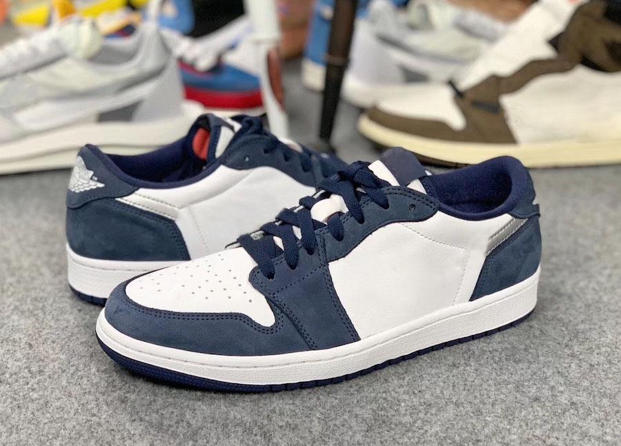 2019 Yeni Sürüm SB Hava 1 Düşük Midnight Navy Man Basketbol Ayakkabı Beyaz Ember Glow Metalik Gümüş Spor Sneakers CJ7891-400 ile Kutusu x