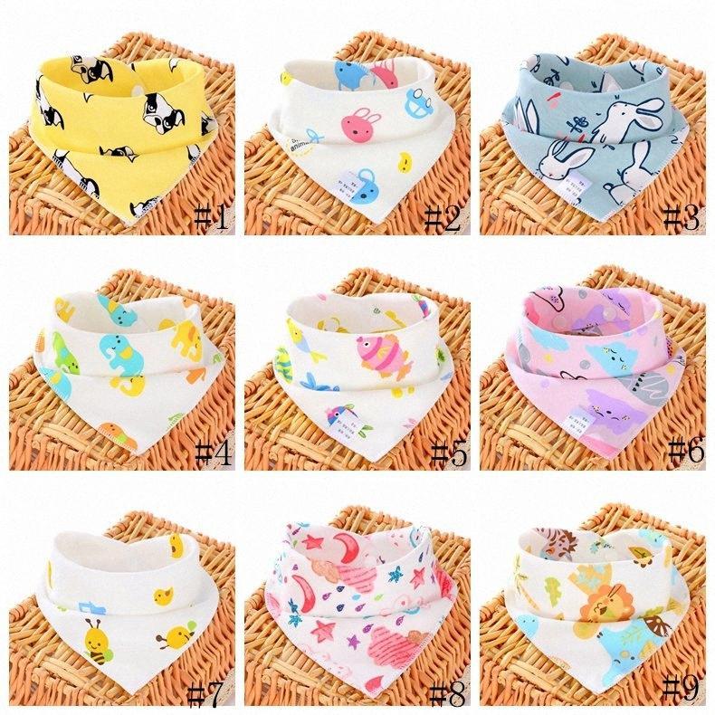 13Styles Baby Bibs Burp Cloths Infant Triangle Scarf Cartoon Print Baby Bibs Toddlers muslin Cotton Bandana Burp GGA3391-1 qQ3q#