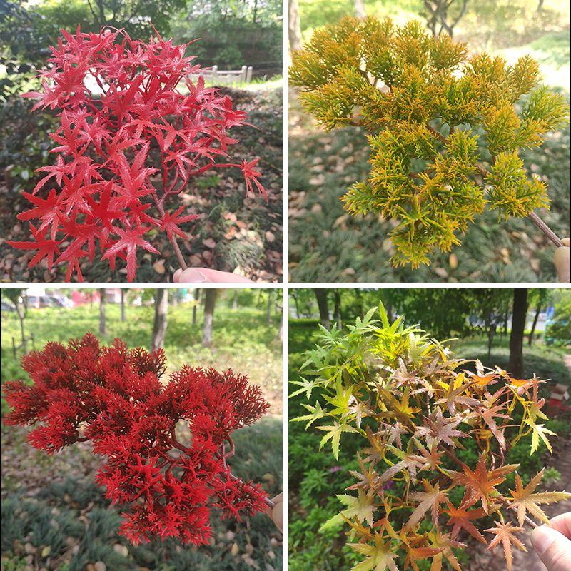 Realistas Flores Maple Leaves Home Decor spray cores Série Flor Bonsai Vender bem com Red Reds Autumn Cor 4 2WX J1
