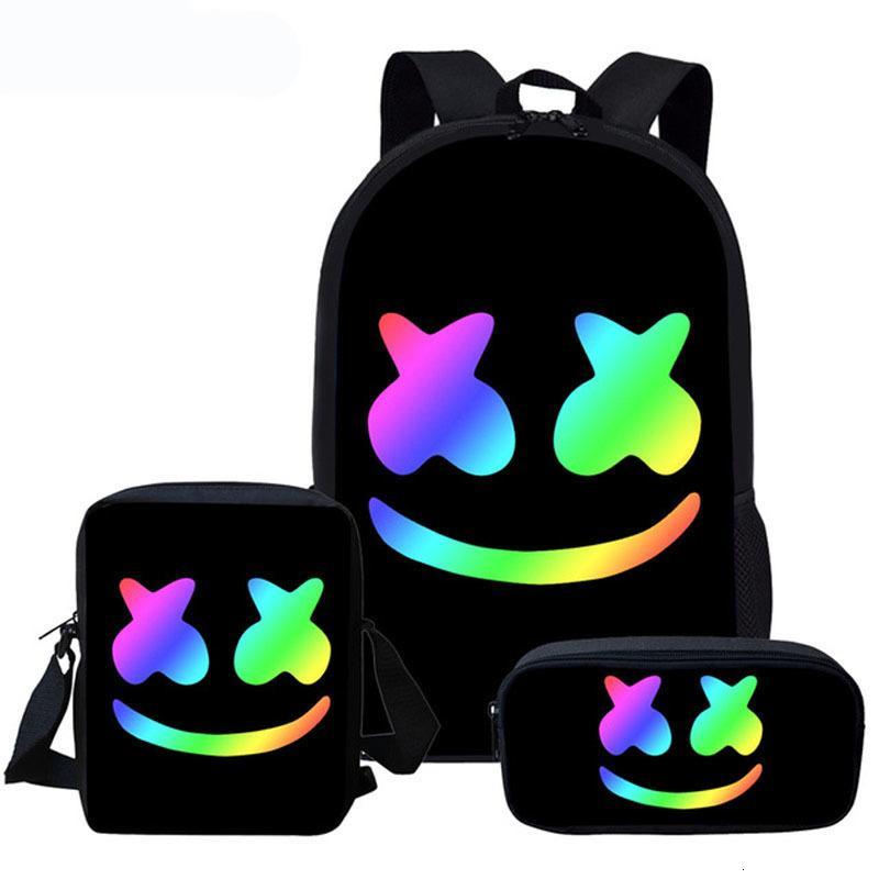 Lindo bolsa cara sonriente personalizado Mochila para Niños Niñas Niños Mochila estudiante de escuela de la taleguilla de los niños del bolso de libro de Mochila