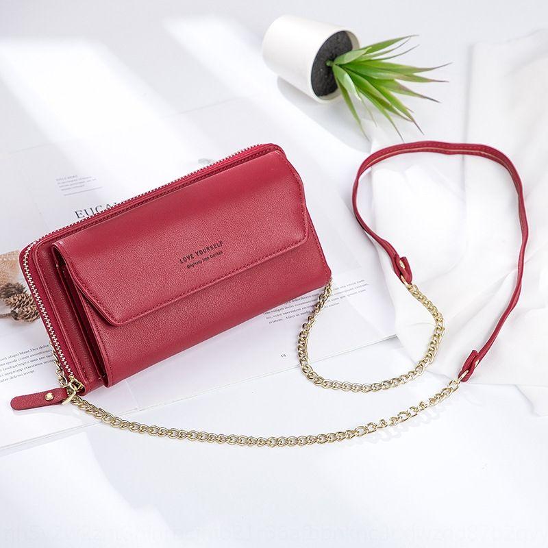 Cep telefonu çantası çoklu Kart düğmesi bozuk para cüzdanı Fash fermuar 2020 yeni kadın Kore tarzı omuz Omuz telefon çantası çok fonksiyonlu moda
