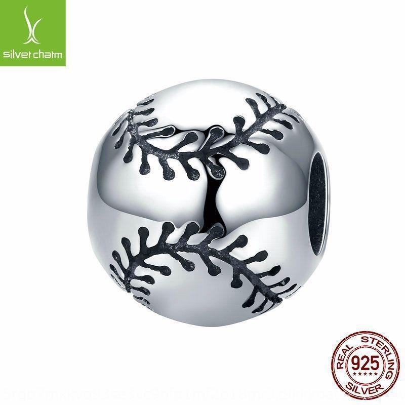 iGKNL mode 925 série de sport de bijoux d'oxyde de sterling mode 925 argent sterling base sport bijoux oxyde baseball argent balle série