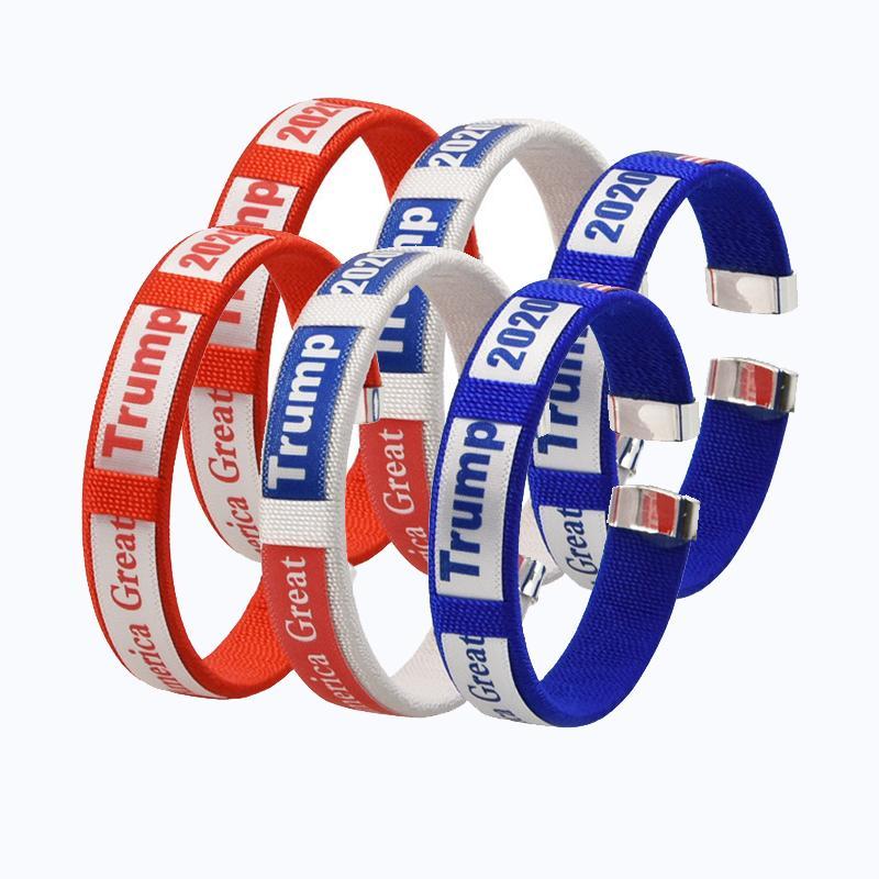 Trump Armband 2020 Supplies amerikanische Wahl Halten Sie Amerika Große Trump-Armband-Webart-Handgelenk-Band AHB2008