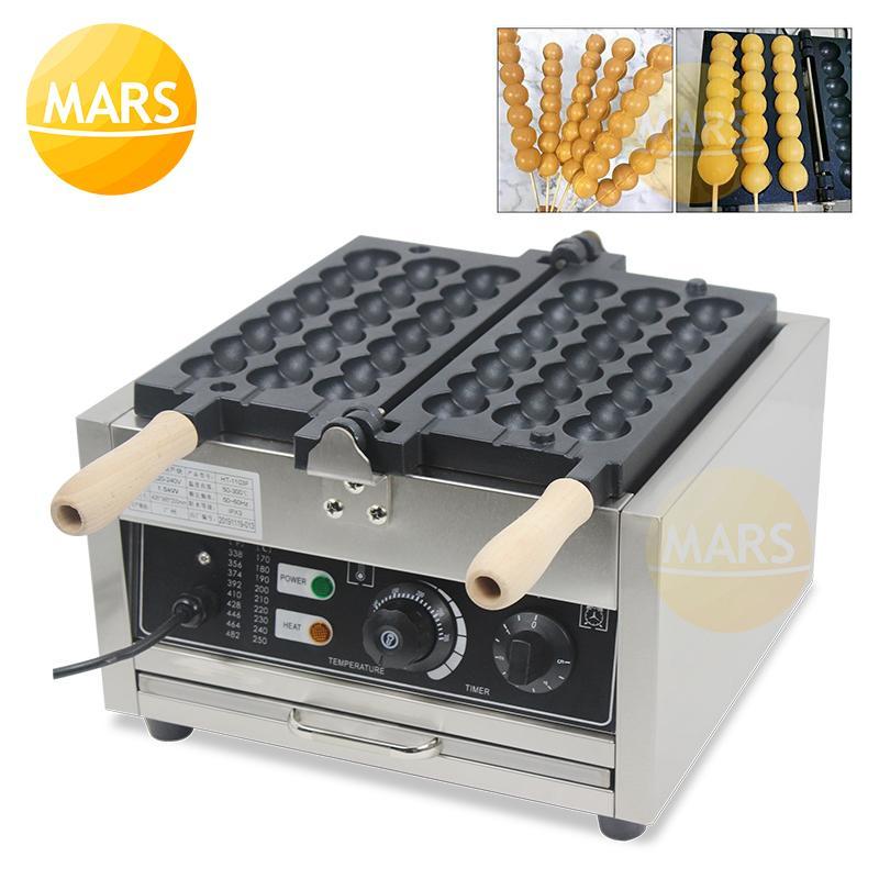 Хлебные производители Электрические шашлыки Waffle на палочке машина с покрытием с покрытием с сахаром с сахаром