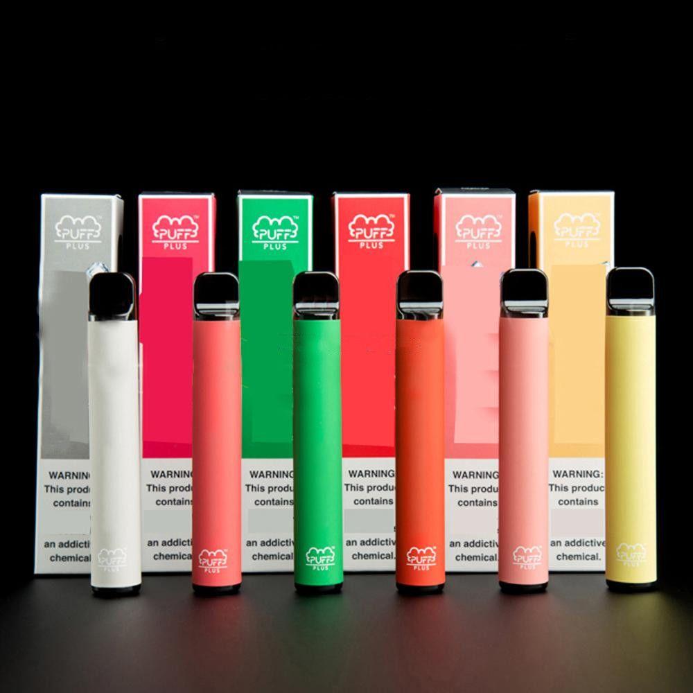 2020 US 인기있는 퍼프 바 플러스 일회용 키트 14 색상 3.2ml 용량 550mAh 배터리 스타터 키트 새로운 보안 코드