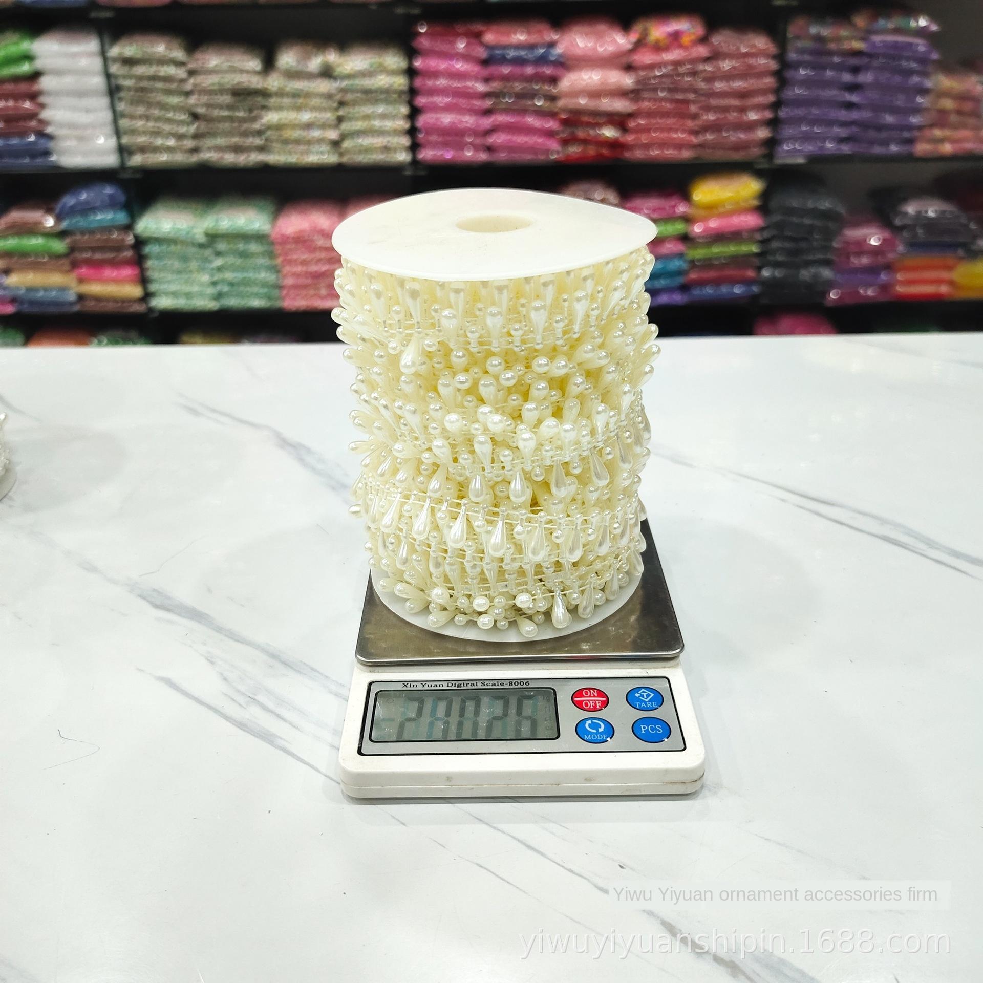vêtements en dentelle nouvelle chaîne de perles de fil de coton goutte d'eau bagages Accessoires de raccordement Accessoires de perles coiffe de dentelle