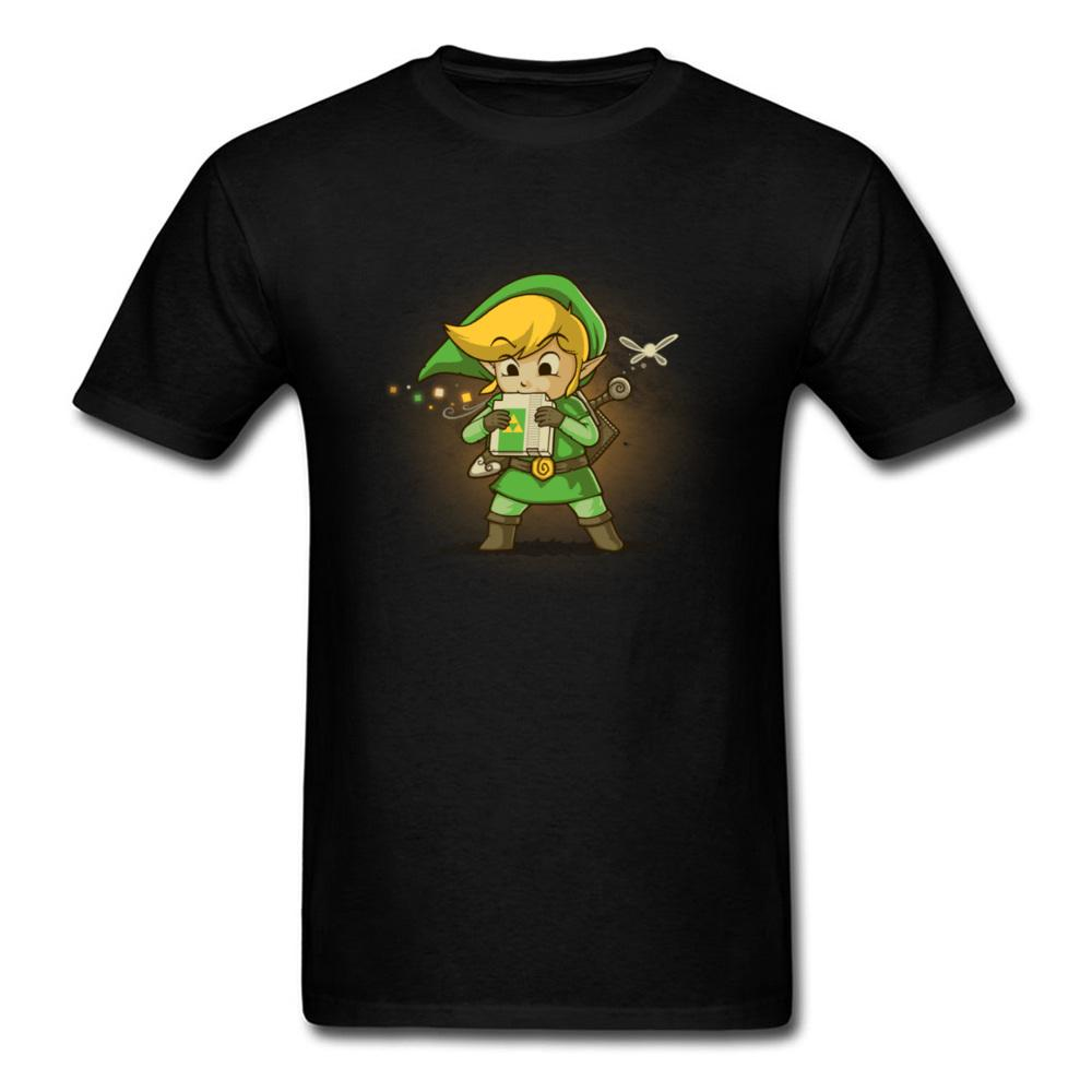 Männlich Kleidung Legend Of Zelda-Spiel-T-Shirt Hyrule Blowing Bits Baumwoll-T-Shirts für Männer Short Sleeve Tees Tops Lustig Simple Style