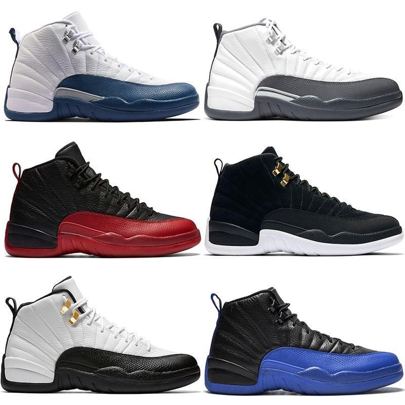 Jumpman 12 Erkekler Basketbol Ayakkabı 12s Erkek Eğitmenler Ters Taksi Koyu Gri Baca Oyun Kraliyet Mavi Üniversite Altın ucuz spor Spor ayakkabılar