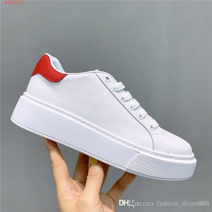 tıknaz Sole Spor Ayakkabı Boyutu 35-41 olan kadınlar Düşük En Dantel-up Spor Ayakkabılar için Sokak Stili Deri Beyaz Sneakers