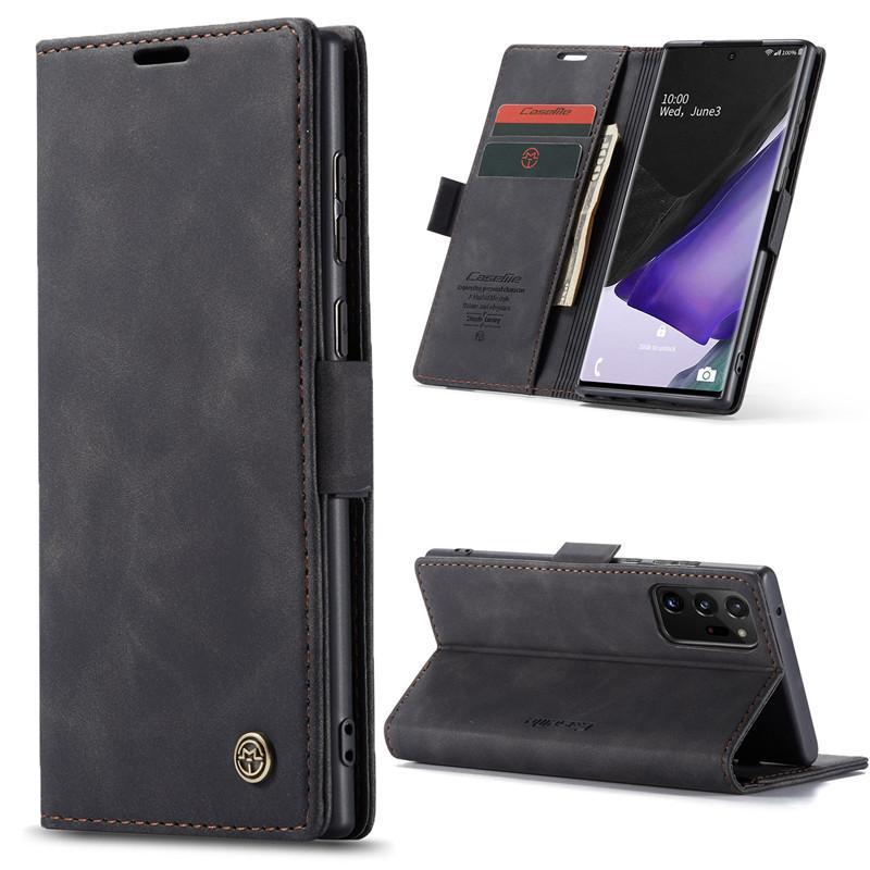 Piel Caseme Soft TPU para la nota 20 de ultra rápida 10 Plus Monedero magnética de lujo tarjeta de crédito casos de cuero Slot