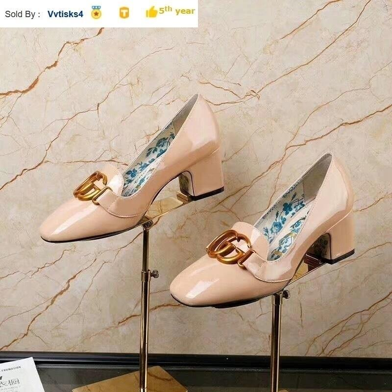 Spring square head women retro thick single high heels Women High heels Sandals Slippers Mules Slides PUMPS SHOES SNEAKERS