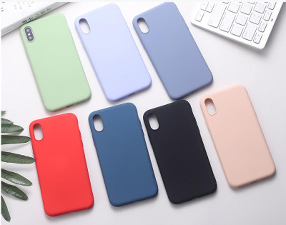 Cep Telefonu Kılıfı Için iPhone 6/6 S / 6 P / 7/8/7 P / 8P / X / XR / XS Max Silikon Tam Koruyucu Kapakları Kabuk Darbeye Dayanıklı