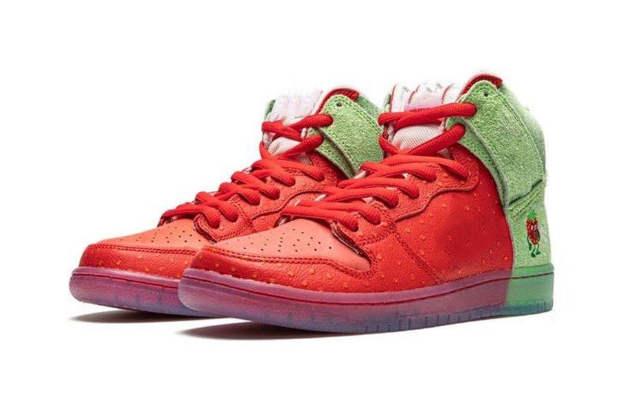 2020 جديد دونك SB ارتفاع الاحذية ستورري السعال الأحمر الأخضر الرجال النساء الرياضة أحذية رياضية CW7093-600 الحجم 36-45