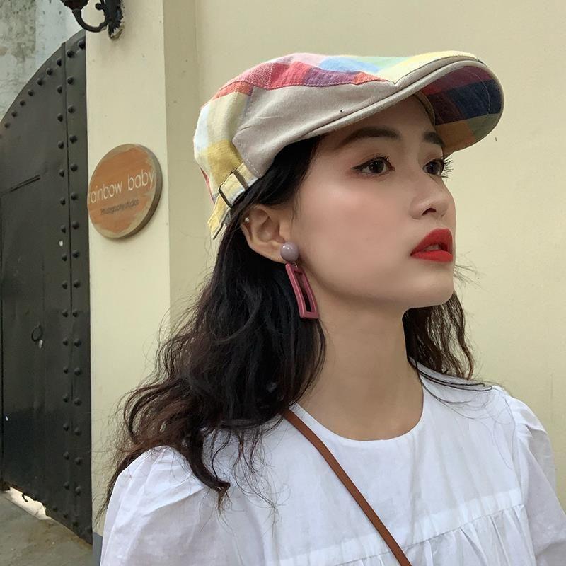 Весна Лето Lattice Берет Шапка шлемы Sun Бич ВС Hat бейсболка Простых Весенние шапок фуражки Панамы для женщин