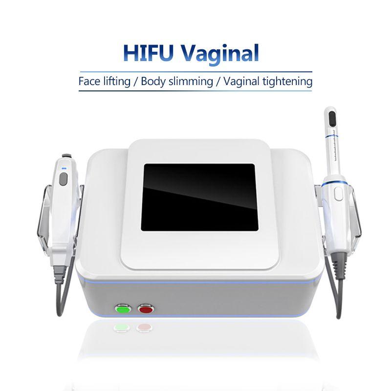 3 in 1 Vajinal Gençleştirme Makinesi HIFU Vajina Sıkma Cihazı Profesyonel Yüz Germe Vücut Zayıflama 360 ° Sıkma Makineleri