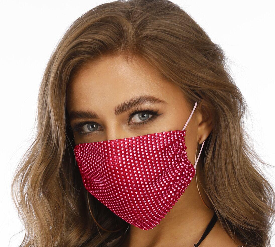 Flash nueva malla 2020 de primavera para las mujeres 2020 nueva primavera Flash joyas de malla diamante diamantes máscara de la máscara de la joyería para las mujeres