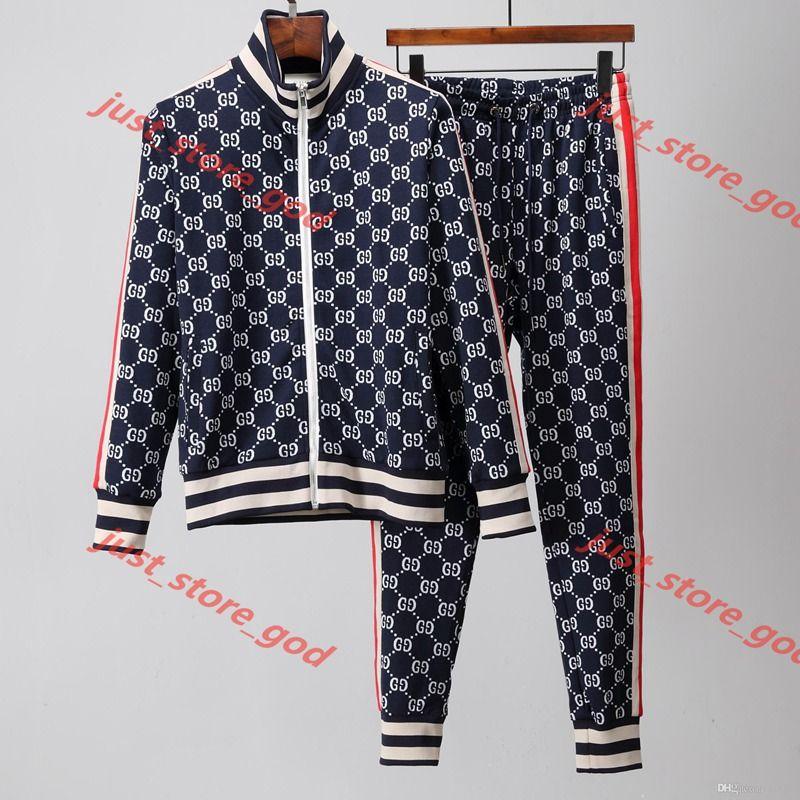 Gucci Clothes suit 2020 Herren-Sportbekleidung Luxe de marque Hemden und Hosen-Anzug Sportswear Sportswear Traje deportivo Sport Pullover lässig Jogginghose