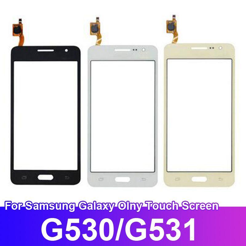 Dokunmatik Ekran Sayısallaştırıcı Sensörü Siyah Beyaz Gold ile Samsung Galaxy Grand Prime G530 G531 LCD Ekran için Ücretsiz Kargo 5.0inch