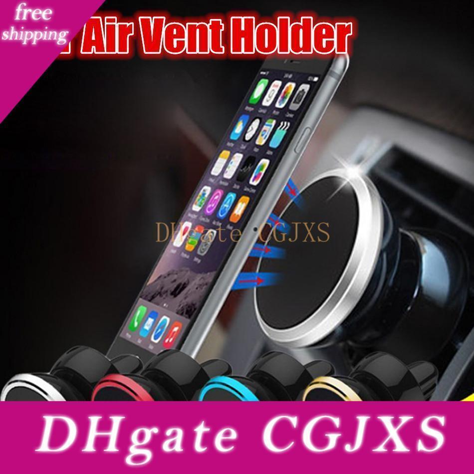 Strong Magnetic Telefone montar titular rotação de 360 graus Suporte de Carro Air Vent Titular Para Iphone 7 8 X Samsung Android Phone GPS MP3