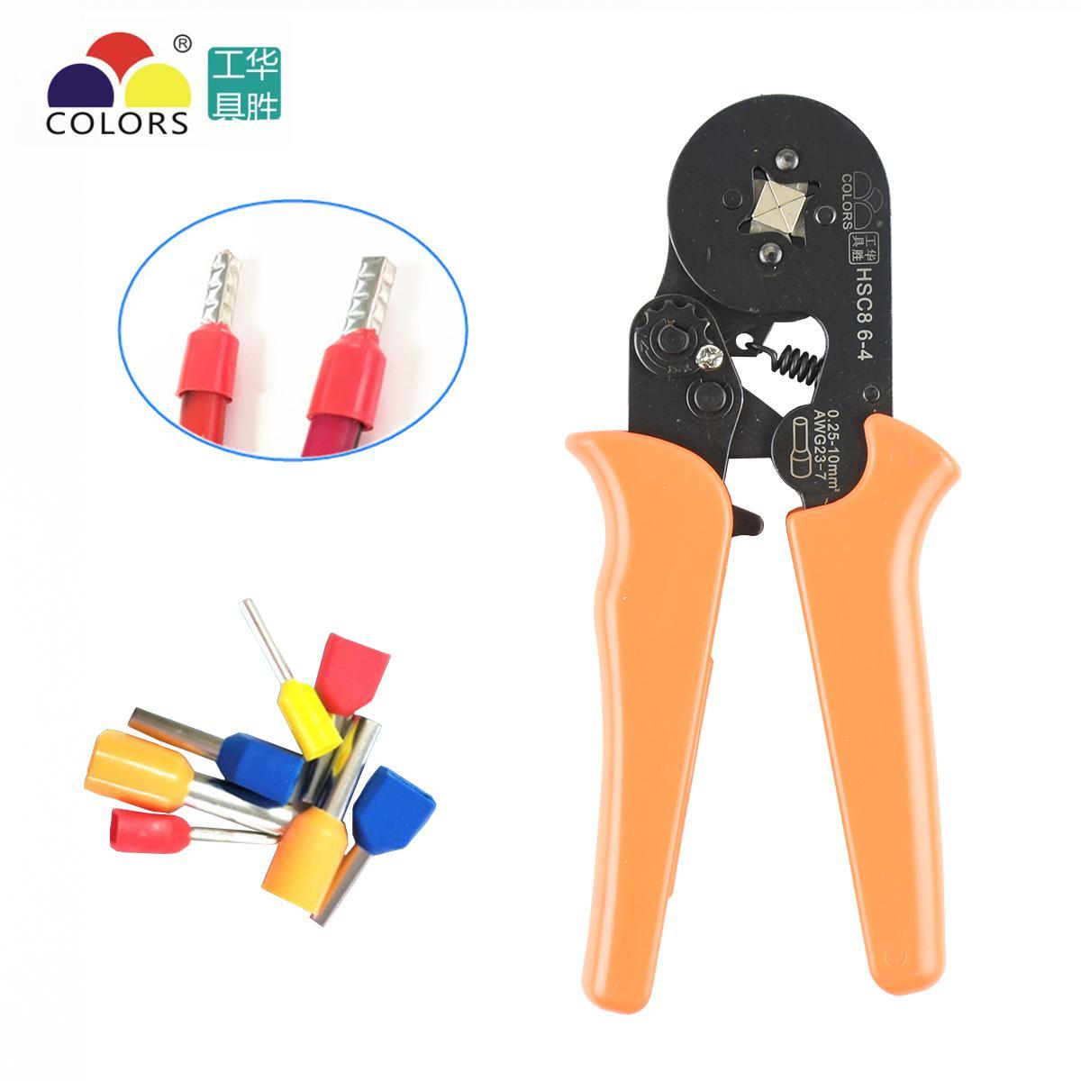 Crimper Zange HSC8 6-4 Lernbare Crimpwerkzeuge verwendet für 23-10 AWG (ähnlich 0,25-6 mm2) Aderendhülsen Aderendhülsen Y200321