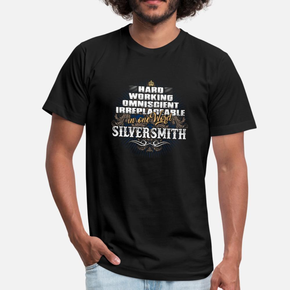Per gli uomini di lavoro Silversmith uomini della maglietta Design T O Collo maschio camicia estiva Vintage allentato costruzione camicia