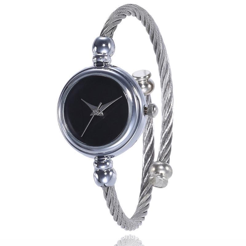 Наручные часы 2021 Женщины Мода Небольшой Кварцевые наручные часы Женские Браслет Часы Нержавеющая Сталь Кристаллическая полоса Роскошный Браслет