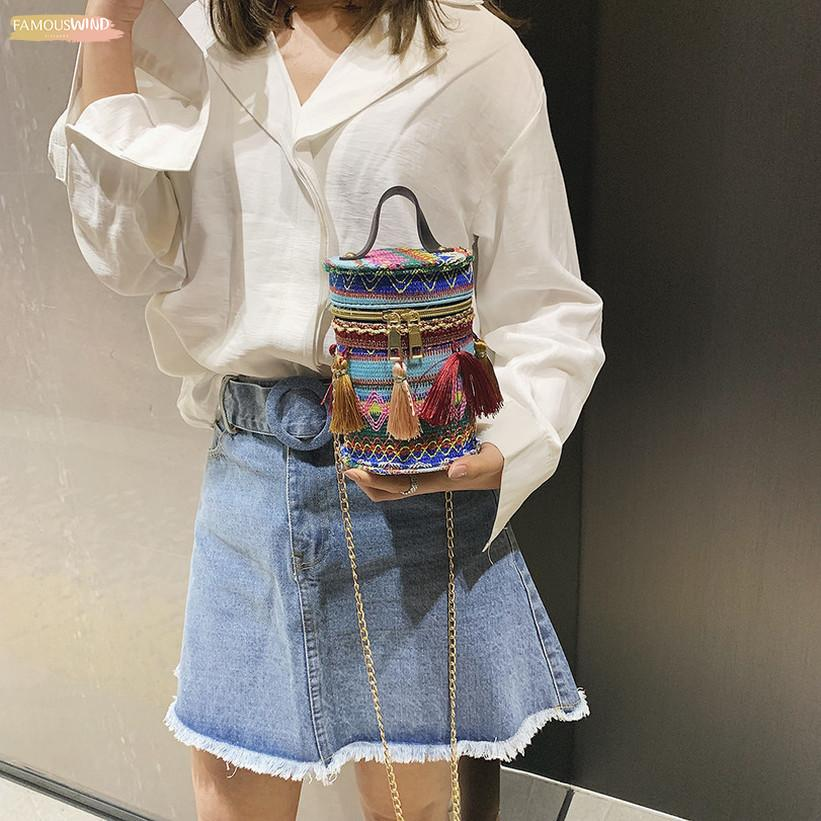 Nappa Bucket Bag clip delle signore della borsa Zipper Shoulder Bag Messenger Bag del partito avversario Bolso Femenino Yl5