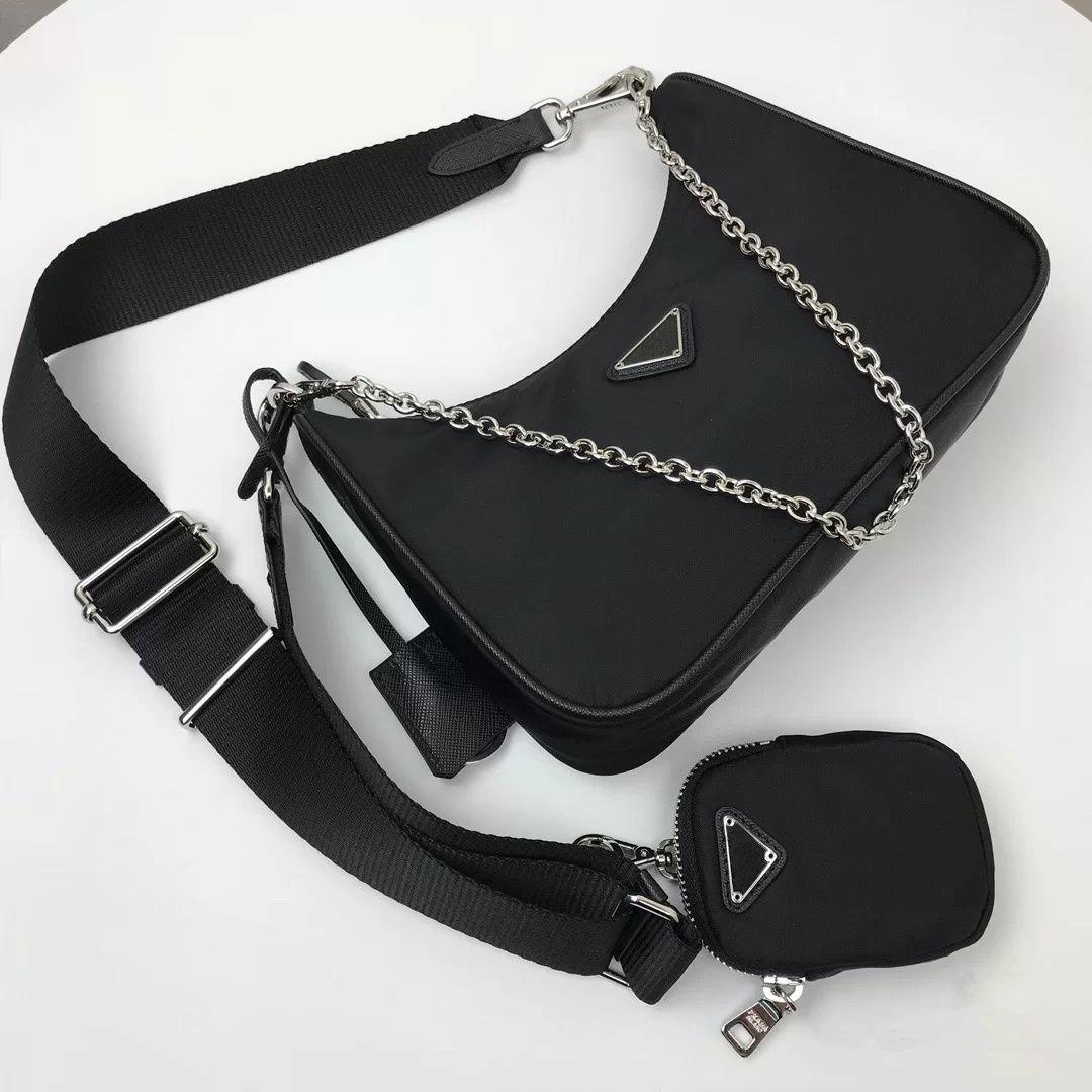 2020 Top quality 3 piece designer womens handbags crossbody purses lady handbag tote luxury 2005 nylon shoulder channel hobo fashion bag