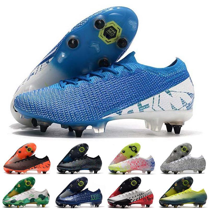 2021 Erkek Chuteiras Futbol Ayakkabıları Superfly 7 Elite SE SG Düşük Ayak Bileği Cleats CR7 Neymar Futbol Çizmeler Mercurial 13