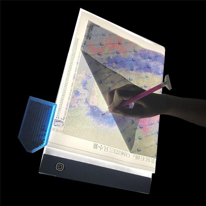A4 LED Artcraft للبحث عن المفقودين وسادة الضوء عكس الضوء السطوع 5D DIY الماس لوحة رسم انطباعات الرسوم المتحركة JK2008XB