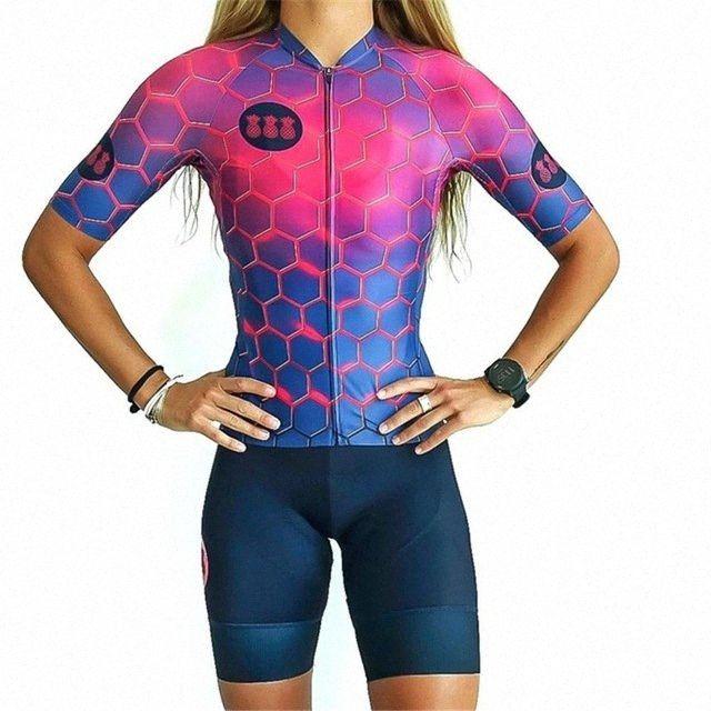 Tres Pinas Cyclisme maillot cyclisme féminin costume d'été Vélo Vêtements vélo Maillot Cuissard Set Pad Gel VTT Wear Vêtements Vélo zZHV #