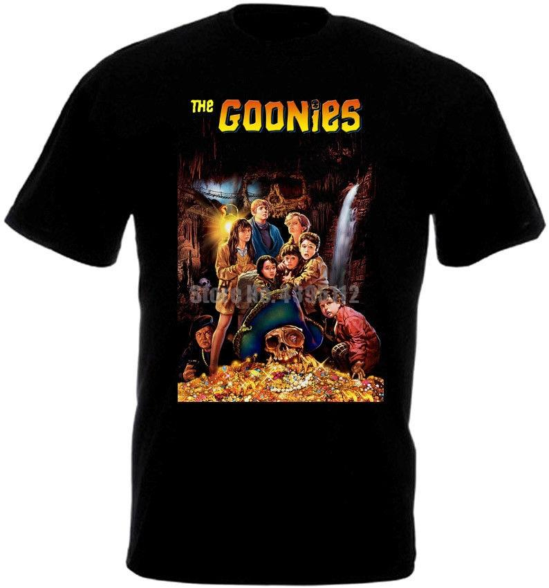 Das Goonies-Film-Plakat-Männer-T-Shirt Hip Hop Street T-Shirt Homme Humor T-Shirt O-Hals-T-Shirts Herrenmode Bekleidung