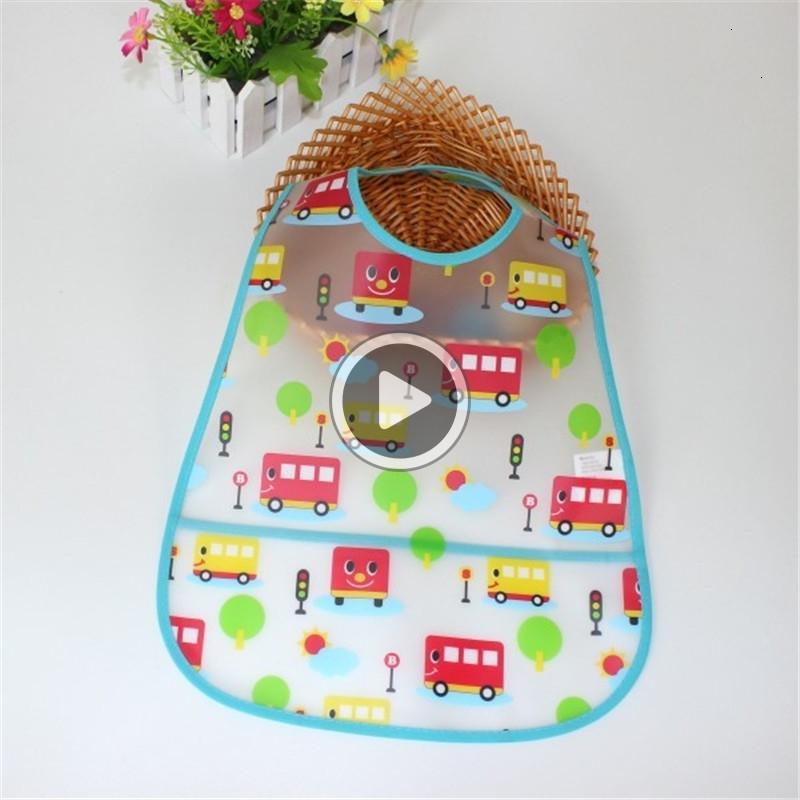 Ajustável bebê babadores de plástico EVA Waterproof Almoço alimentação dos desenhos animados do bebê babadores Alimentação Pano Crianças do bebê aventais Acssories material