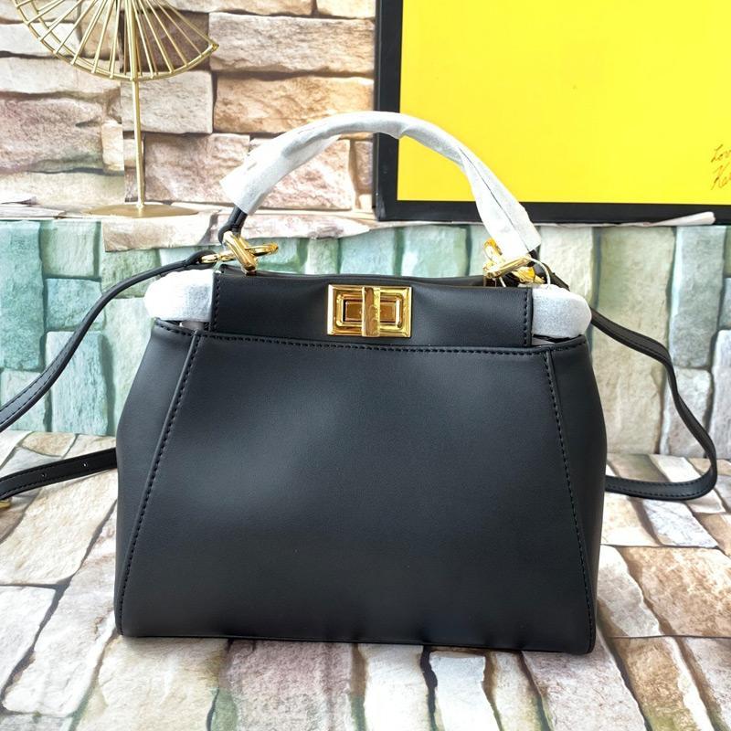 Women Fashion Tote Bag Real Leather Handbag Purse Inner Zipper Pocket High Quality Adjustable Shoulder Strap Bags Twist Lock Crossbody Bag