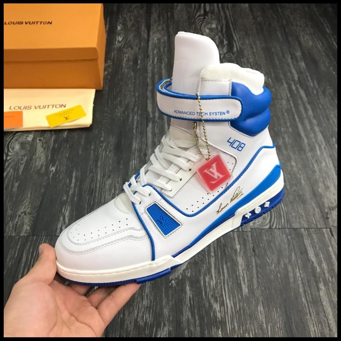 2019ZU Primavera e no Outono mens casuais calçados esportivos tênis de cano alto viagem cinto, com micro-padrão, com a entrega rápida caixa original