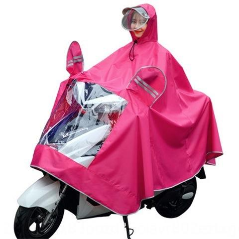 Iln8t Buxnv transparente batería de coche solo poncho ciclismo mujer adulta extra grueso impermeable motocicleta bicicleta eléctrica impermeable de la motocicleta