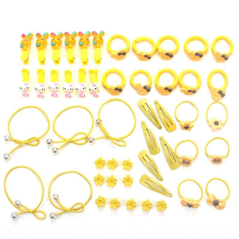 accessori per capelli combinazione gioielli per bambini impostato elastico elastico dei capelli della forcella della ragazza sveglia mescolato 50 set