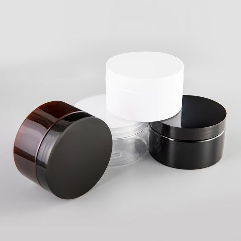 250g Vider Jar Rechargeables crème cosmétique parfum solide Maquillage récipient avec bouchon à vis Vider cosmétique contenants PET Pot