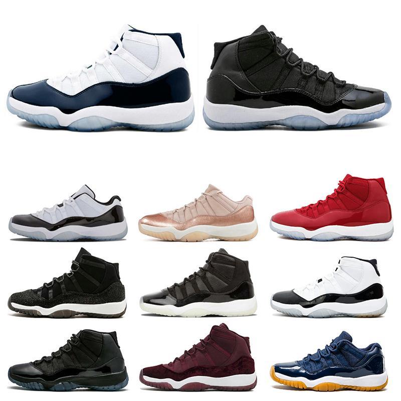 11 zapatos de moda para hombre 11s baloncesto Concord Cap 45 y vestido leyenda Platinum Blue Tint atasco del espacio Gimnasio NakeskinJordánzapato Retros