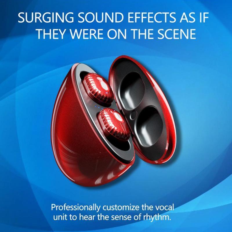 Ingresso auricolare Bluetooth nuova LD01 due orecchie senza fili Bluetooth auricolare con microfono affari cuffia senza fili