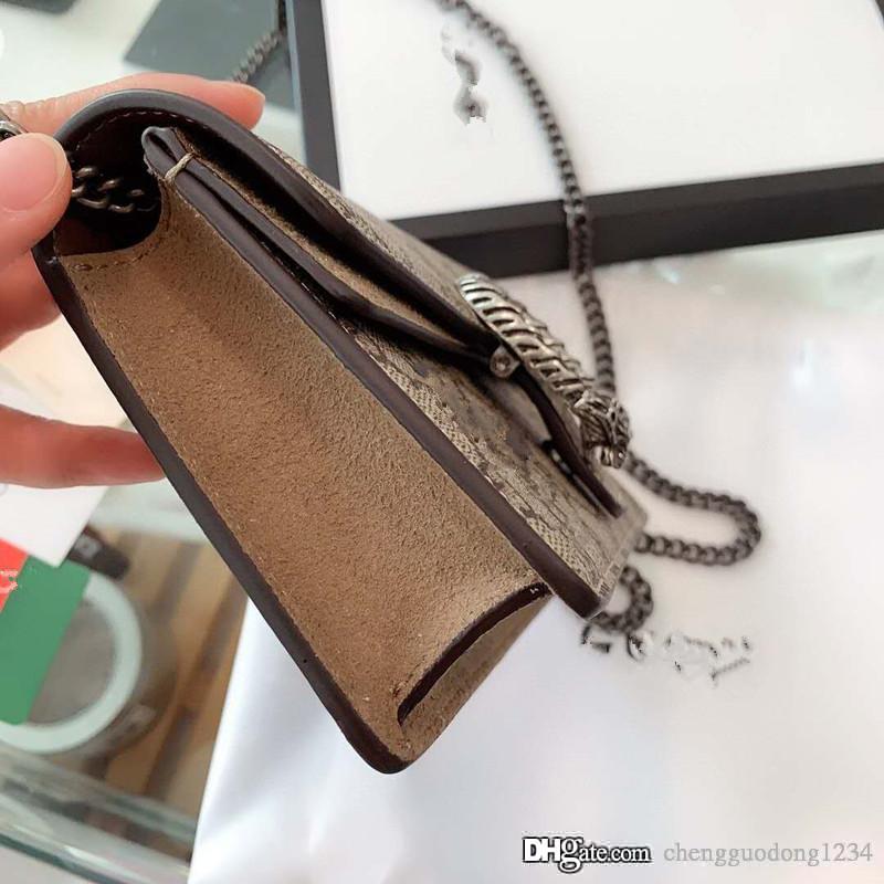 Dionysiaque chaîne sac à main en cuir véritable Sacs à bandoulière Son Joker New Mobile Phone Bag Printing Mini Party