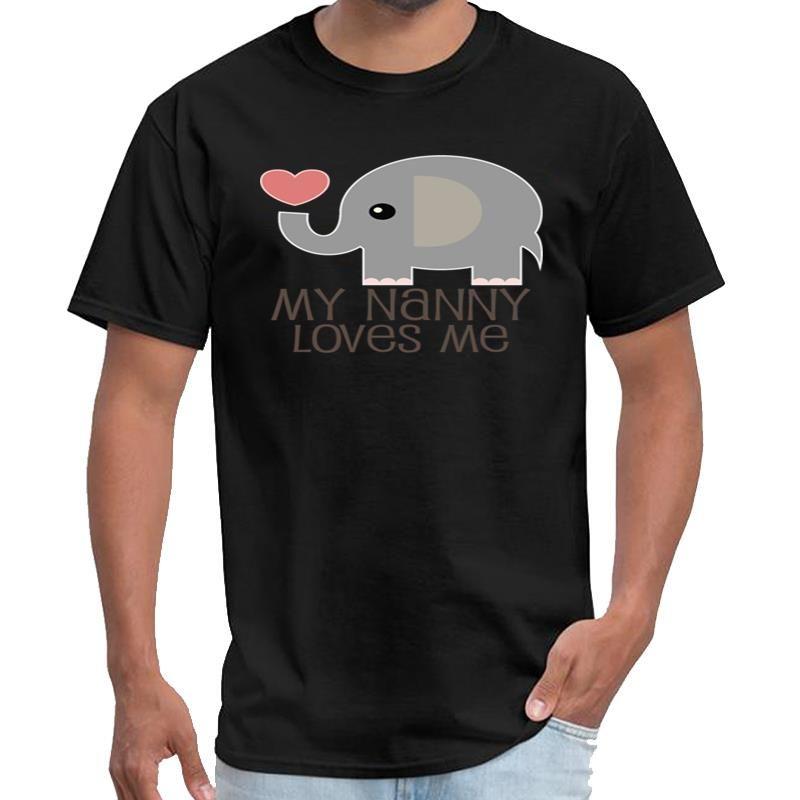Lustige Nanny liebt mich Elefant die Schläge T-Shirt männlich weiblich das Kind Mandalorian T-Shirt XXXL 4XL 5XL 6XL Tee oben