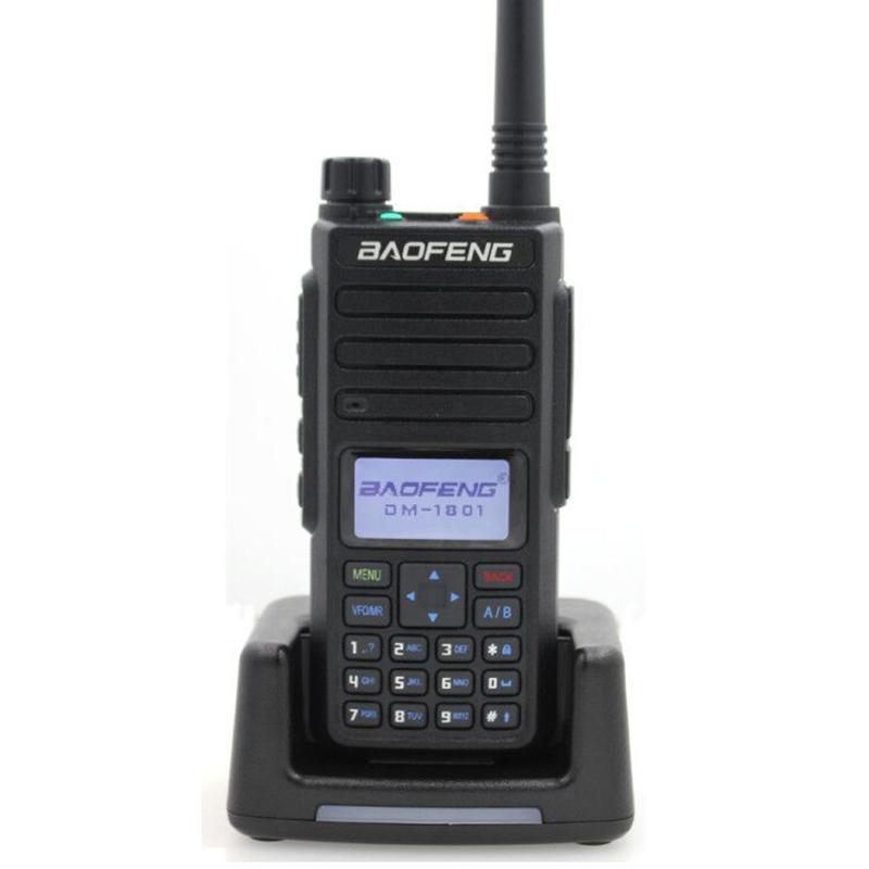 2020 Baofeng DMR DM1801 Walkie Talkie VHF UHF 136-174 400-470MHz Dual Band Dual Time Slot de Nível 12 Digital Radio DM1801