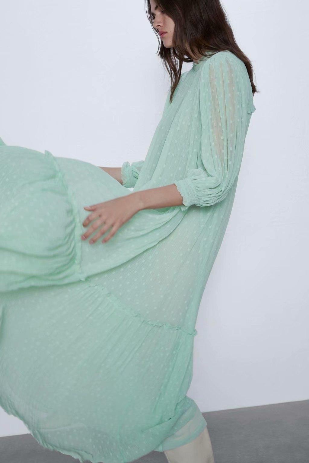 gae00 2020 elegante tul tul primavera FF1-29800 2020 vestido de manga larga elegante de manga larga vestido de primavera FF1-29800