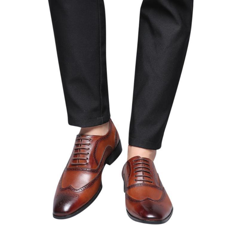 Womail Fashion Business vestido sapatos masculinos New Classic couro homens de ternos sapatos da moda Wedding Dress Homens Oxfords Tamanho 38-48