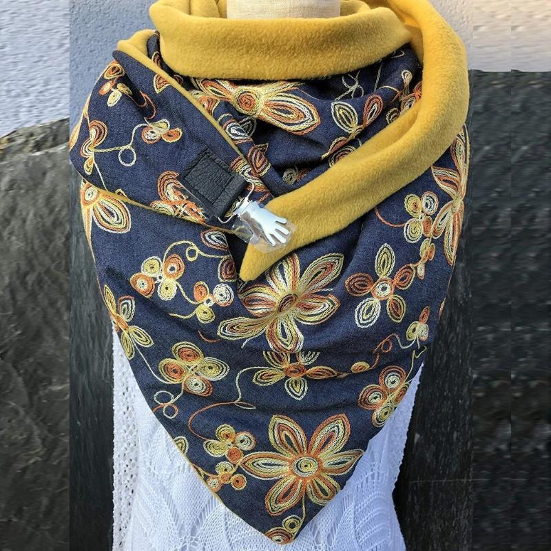 2020 весна зима женщин способа печати Кнопка Мягкая Wrap Повседневный Теплые шарфы шали вязаные Мужчины Женщины универсальный шарф