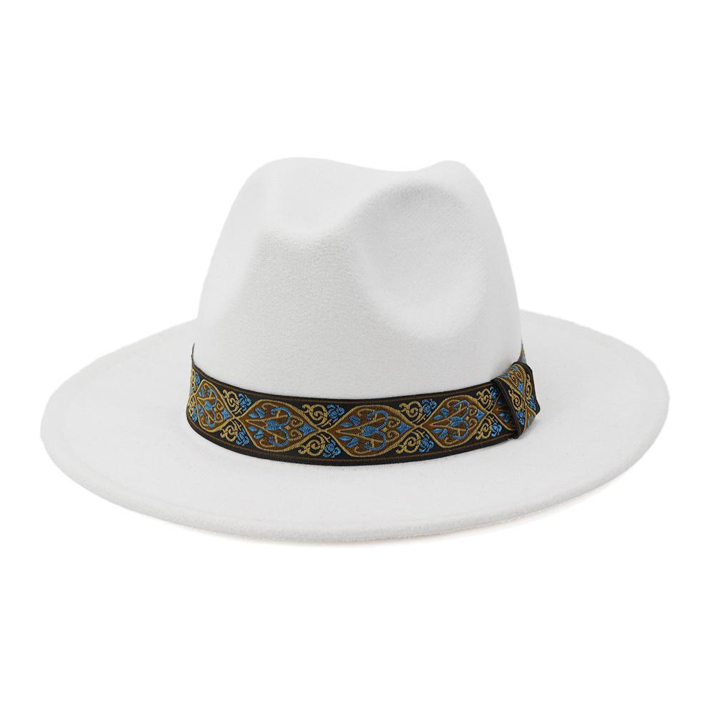 Nouveautés durée limitée Concepteurs automne et britannique d'hiver style Woollen Hat Jazz Big Hat Brim Hommes et Femmes Mode Hat Livraison gratuite