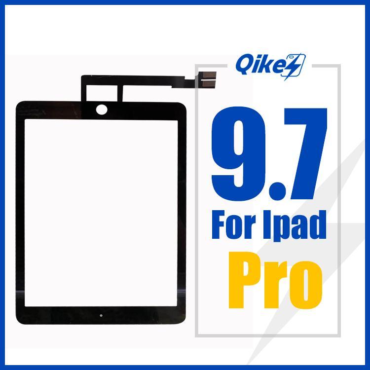 iPad 7 Pro 9.7 Touch Screen A1395 A1396 Toque digitador de vidro Sensor Painel FrameOuter Touch Screen do painel de vidro frontal substituição